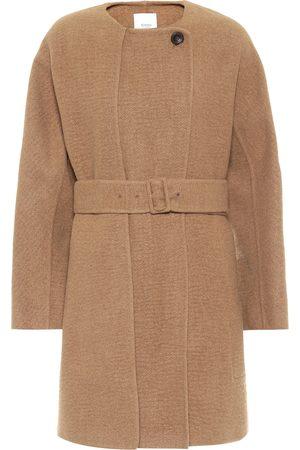 Agnona Belted camel coat