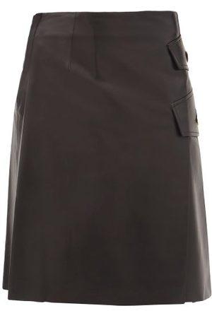 Proenza Schouler Side-slit Leather Skirt - Womens