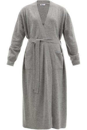 Johnstons Of Elgin Women Cardigans - Ines Tie-front Cashmere Cardigan - Womens - Grey