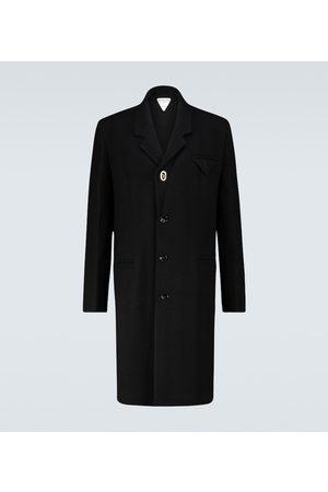 Bottega Veneta Single-breasted herringbone coat
