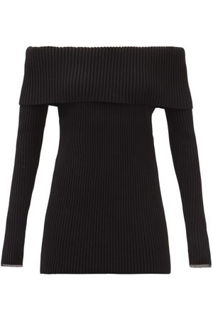 Proenza Schouler Women Strapless Tops - Off-the-shoulder Ribbed Sweater - Womens