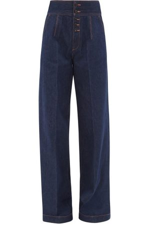 Made In Tomboy Felisa High-rise Wide-leg Jeans - Womens - Dark Denim