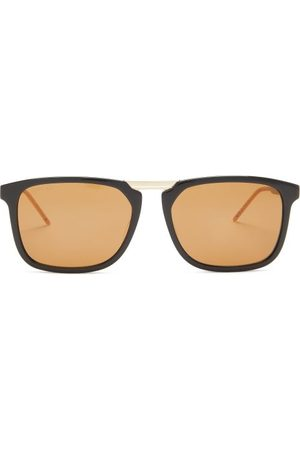 Gucci Square Acetate And Metal Sunglasses - Mens