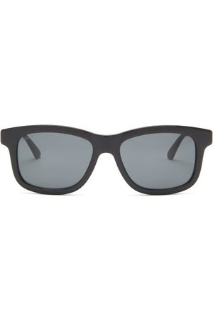 Gucci Web-stripe Square Acetate Sunglasses - Mens