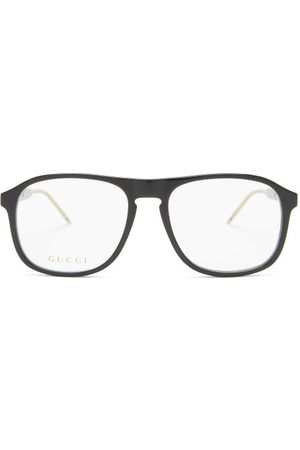 Gucci Square Acetate Glasses - Mens