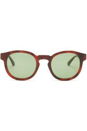Gucci Round Tortoiseshell-effect Acetate Sunglasses - Mens