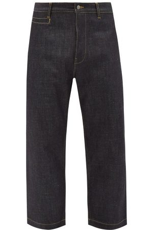 STUDIO NICHOLSON Men Wide Leg - Bill 102 Selvedge-denim Wide-leg Jeans - Mens