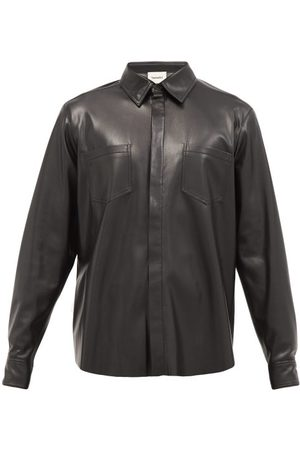 Nanushka Patch-pocket Faux-leather Shirt - Mens
