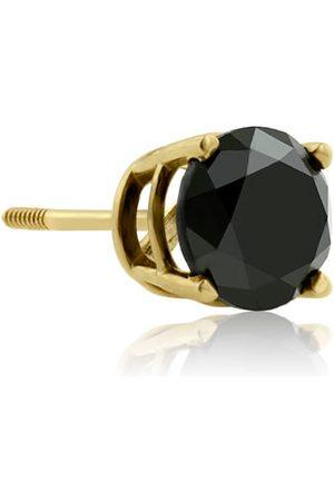 SuperJeweler 1 Carat Black Single Diamond Stud Earring in by