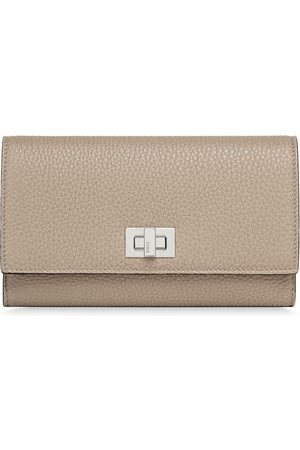 Fendi Twist-lock continental wallet - Neutrals