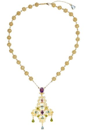 Dolce & Gabbana 18kt yellow bead pendant necklace