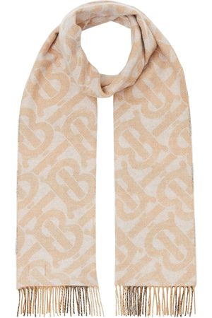Burberry Scarves - Reversible check and monogram scarf