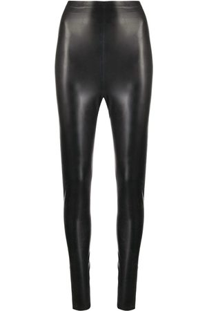 Saint Laurent High-waist latex leggings