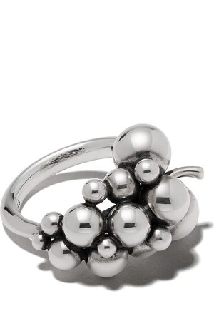 Georg Jensen Women Rings - Small oxidised sterling Moonlight Grapes ring - COLOR