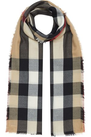 Burberry Vintage check cashmere scarf - Neutrals
