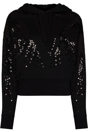 VALENTINO Sequin VLOGO embroidered hoodie
