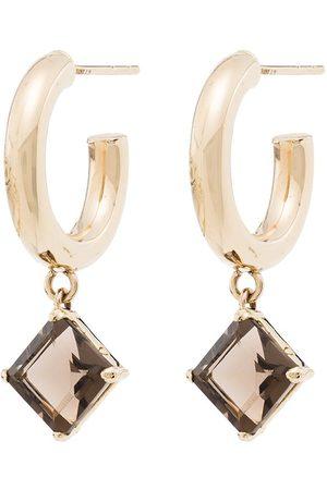 LOREN STEWART 10kt quartz hoop earrings