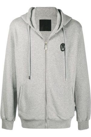 Philipp Plein Skull zipped hoodie - Grey