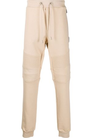 Philipp Plein Track pants with quilted detailing - Neutrals
