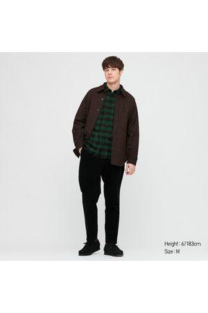 UNIQLO Men's Plaid Flannel Checked Long-Sleeve Shirt, , XXS