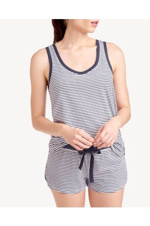 Splendid Womens Tank Sleep Set in Stripe Peacoat Summer Stripe - Size L