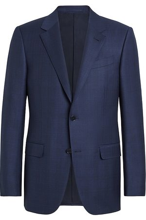 Ermenegildo Zegna Men's Trofeo Plaid Wool Suit Jacket - - Size 58 (48) L