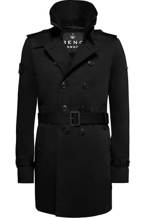 Trench London Men's The Rake Slim Trench Coat - - Size XL