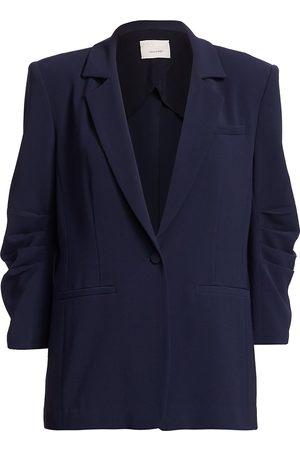 Cinq A Sept Women's Khloe Crepe Ruched Blazer - - Size 10