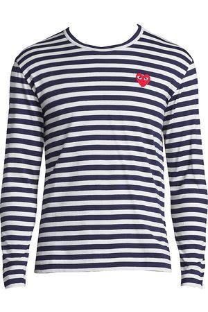 Comme des Garçons Men's Long Sleeve Striped T-Shirt - - Size Medium
