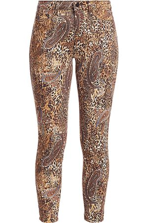 L'Agence Women's Margot High-Rise Print Ankle Skinny Paisley Leopard Jeans - - Size 28 (6)