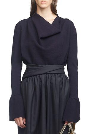3.1 Phillip Lim Women's Military Long-Sleeve Ribbed Cowl-Neck Sweater - - Size Large