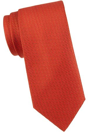 Charvet Men's Geometric-Print Silk Tie
