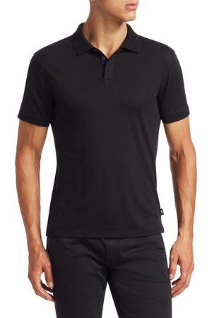Emporio Armani Men's Textured Collar Slim-Fit Polo Shirt - - Size XXXL