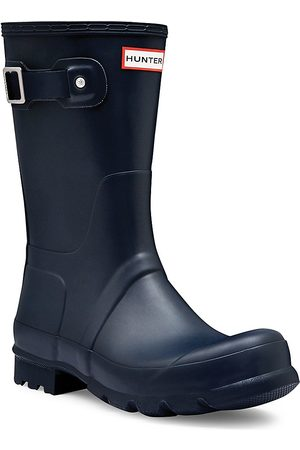 Hunter Men's Men's Original Short Waterproof Rain Boots - - Size 13