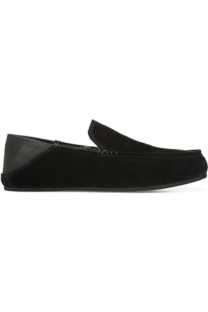 Vince Men's Gino Shearling Lined Suede & Leather Loafer Slippers - - Size 13