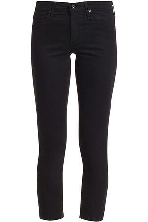 AG Jeans Women's Prima Sateen Mid-Rise Crop Cigarette Pants - - Size 32 (10-12)