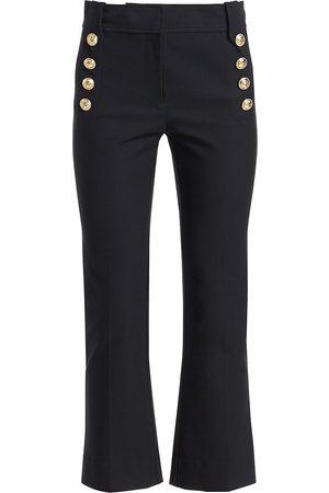 Derek Lam Women's Robertson Crop Flare Pants - - Size 12