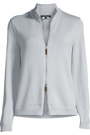 Lafayette 148 New York Women's Fitted Knit Bomber Jacket - - Size Large