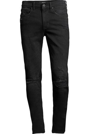 Hudson Men's Zack Distressed Skinny Jeans - - Size 42