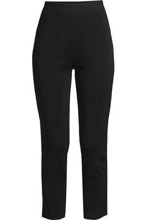 Misook Women's Slim High-Rise Cropped Pants - - Size Large