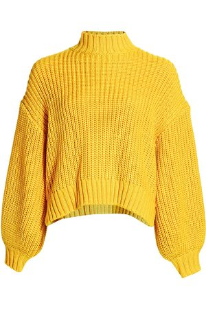 Cinq A Sept Women's Haillie Long Puff-Sleeve Sweater - - Size Large