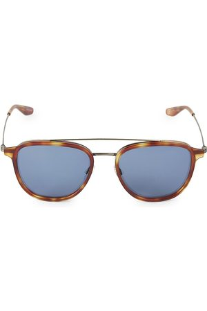 Barton Perreira Men's Courtier 55MM Round Navigator Sunglasses