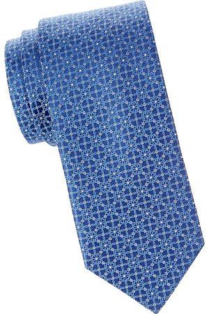 Eton Men's Floral Medallion Silk Tie