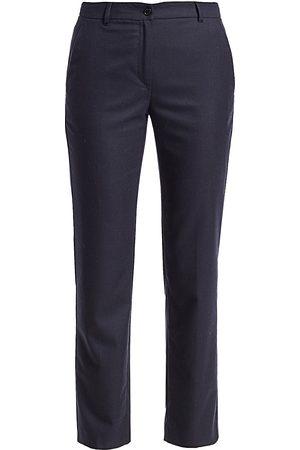Agnona Women's Wool Flannel Straight-Leg Ankle Pants - - Size 40 (4)