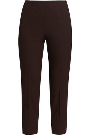 PIAZZA SEMPIONE Audrey Cropped Stretch-Cotton Trousers