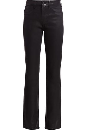 L'Agence Women's Oriana High-Rise Straight-Leg Coated Jeans - - Size 30 (8-10)