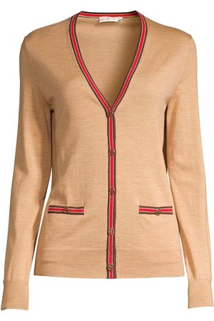Tory Burch Women's Madeline Striped Trim Cardigan - - Size XS