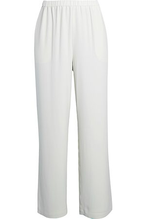 Eileen Fisher Women's Silk Straight-Leg Pants - - Size XL