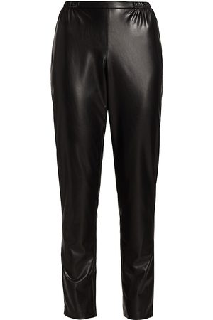 Caroline Rose Women's Faux Leather Trousers - - Size Large