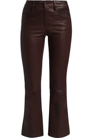 Frame Women's Le Crop Leather Bootcut Pants - - Size 31 (10)